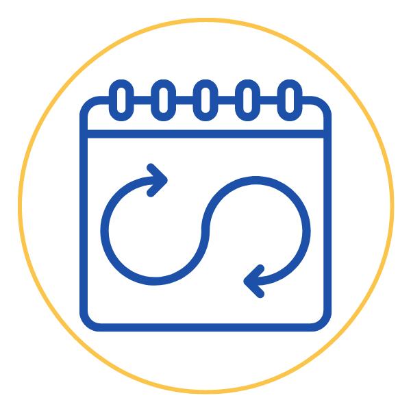 Flexible calendar icon