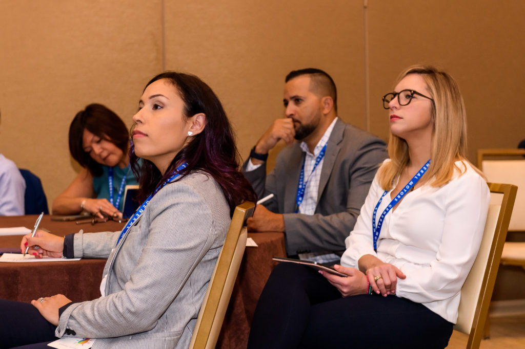 People paying attention at the HACR Young Hispanics event