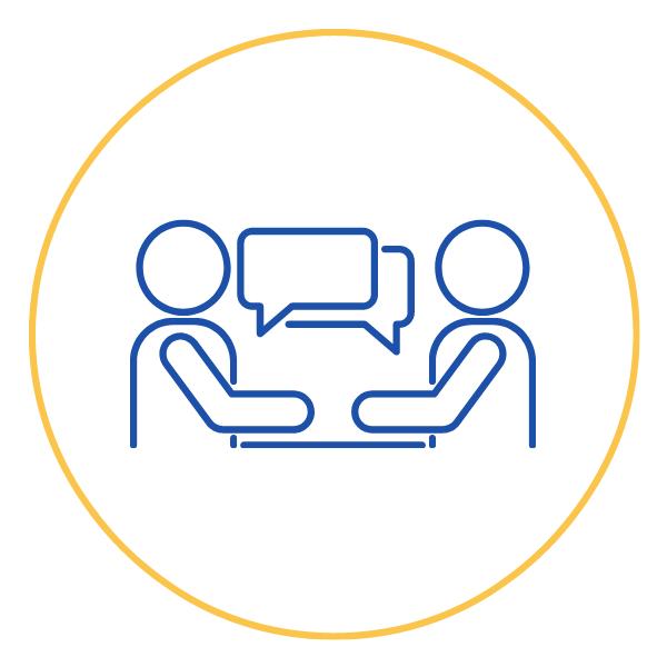 People conversation icon